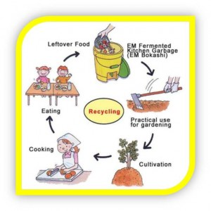 Recycling kitchen waste cycle