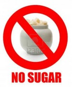 no sugar sign